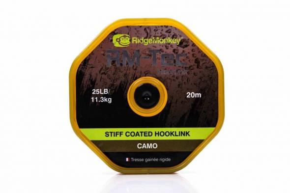 RidgeMonkey RM-Tec Stiff Coated Hooklink (Camo) 20m
