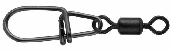 Spro Matt Black Secure Snap + Rolling Swivel