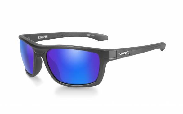 WileyX Kingpin Polarisationsbrille Blue Mirror Lens / Matte Graphite Frame