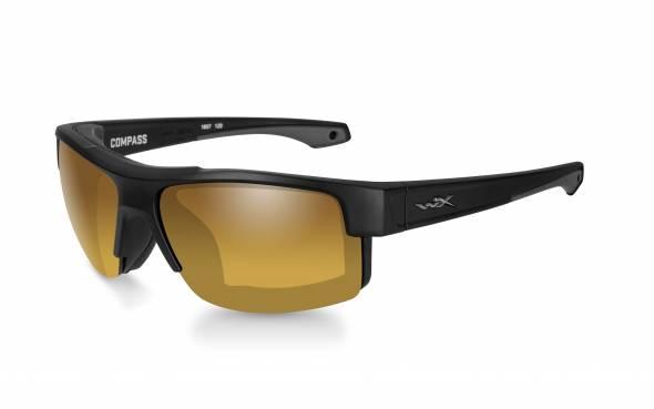 WileyX Compass Polarisationsbrille Venice Gold Mirror Lens / Matte Black Frame
