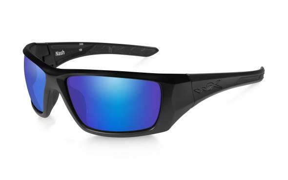 WileyX Nash Polarisationsbrille Blue Mirror / Matte Black Frame