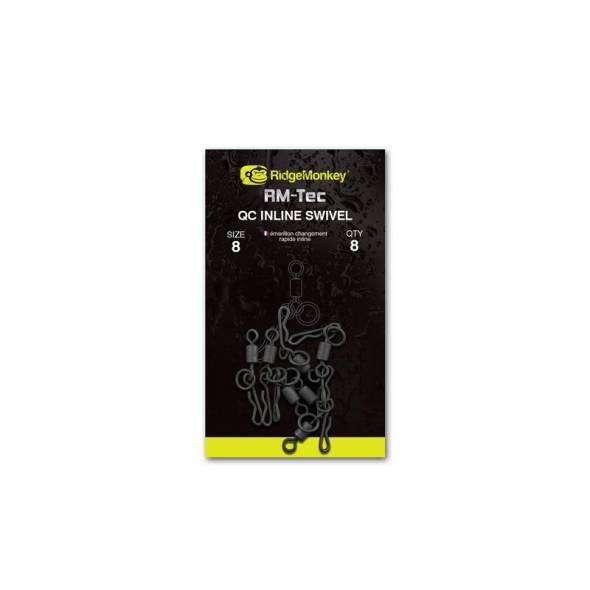 RidgeMonkey RM-Tec QC Inline Swivel Size 8