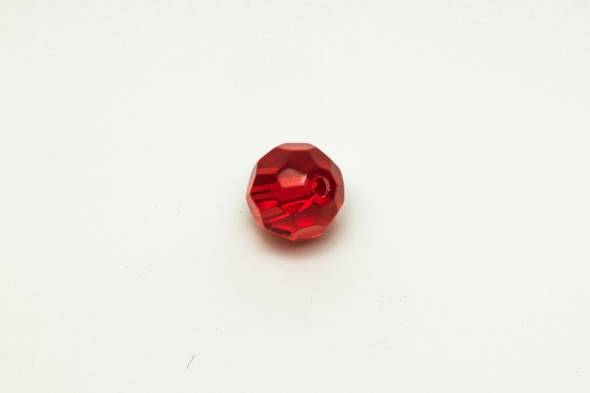 Predax Glasperlen Rot Geschliffen
