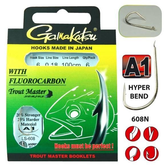 Gamakastu Trout Master Series LS-608N A1 200cm Fluorocarbon