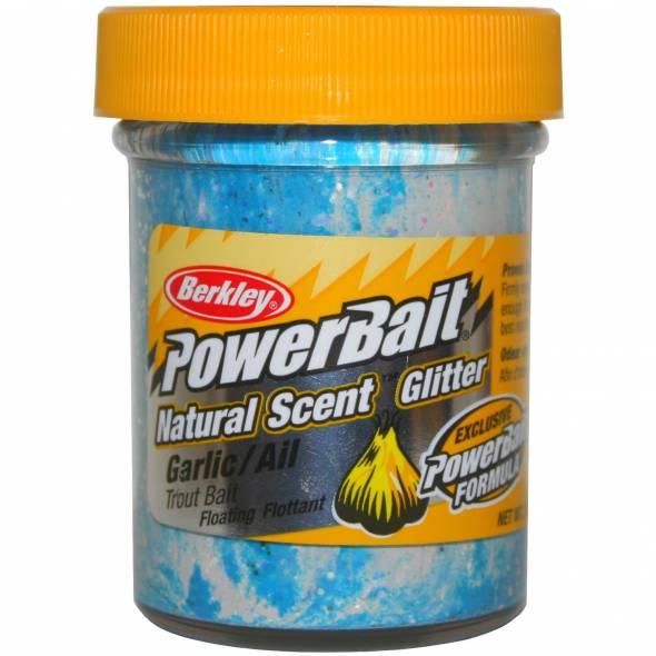 Berkley PowerBait Natural Scent Glitter Garlic/Knoblauch