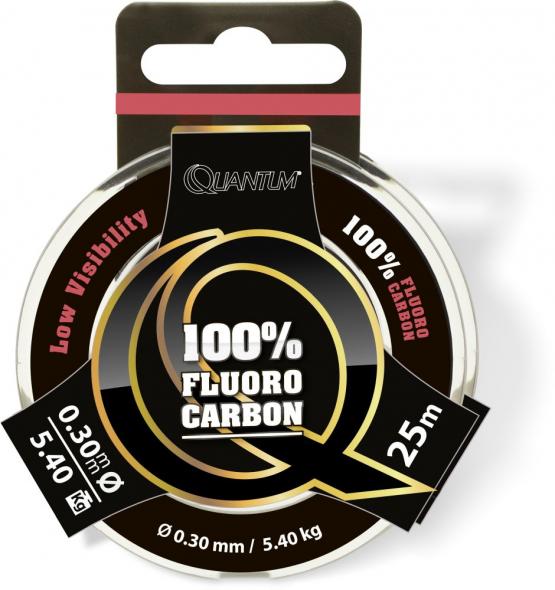 Quantum 100% Fluoro Carbon Predator 25m