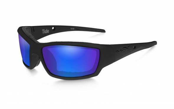 WileyX Tide Polarisationsbrille Blue Mirror Lens / Matte Black Frame