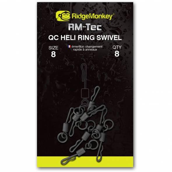 RidgeMonkey RM-Tec QC Heli Ring Swivel