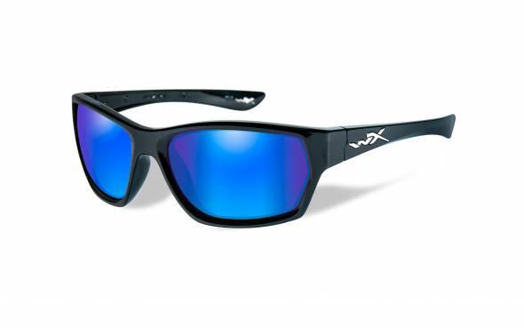 WileyX Moxy Polarisationsbrille Crimson Mirror Lens / Gloss Black Frame