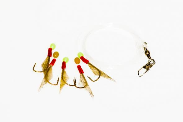Heringsvorfach 5 Haken Fischhaut